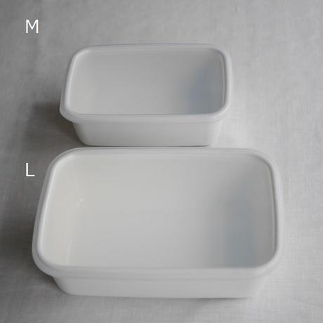 野田琺瑯 White Series レクタングル深型M シール蓋つき