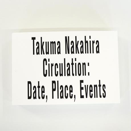 中平卓馬『サーキュレーション-日付、場所、行為』