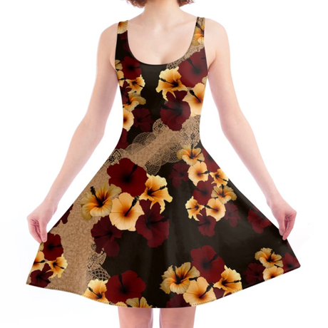 Hibiscus Skater Dress