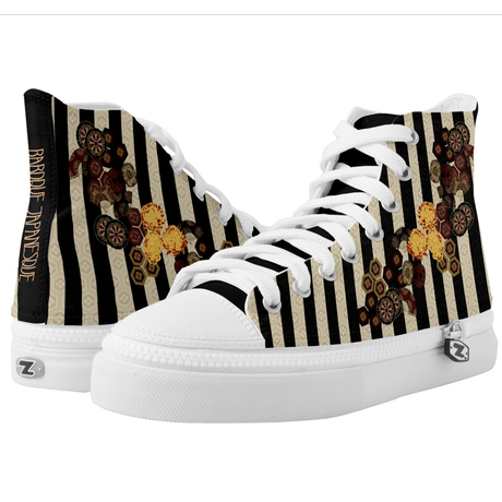 Japanese kimono emblem HIGH TOP SHOES
