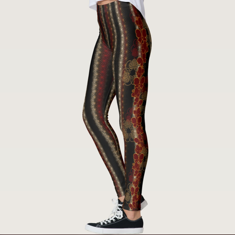 Japanese traditional Butterfly emblem Leggings