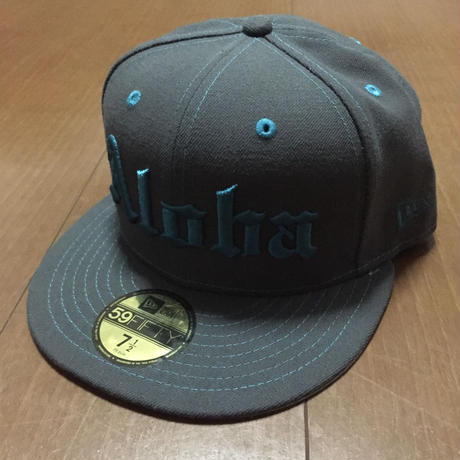 FMHI ALOHA Gray/Teal 7'1/2 New Era Fitted hat