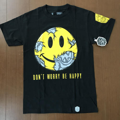"FMHI  ""DON'T WORRY"" tee  BLACK"