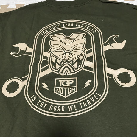 FMHI  x TOP NOTCH Collab WRENCH GREEN  Long Sleeve Shirt