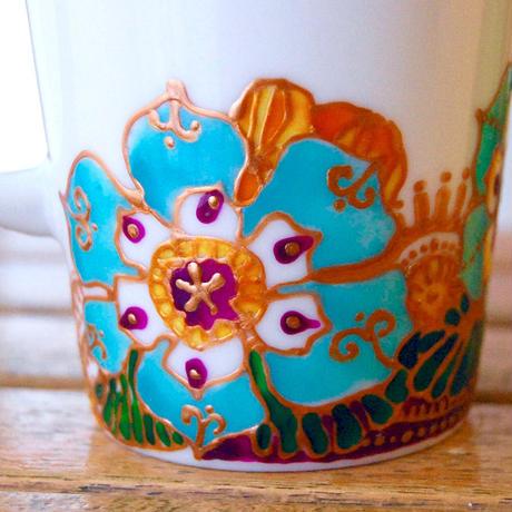 マグカップ(オレンジアクア)