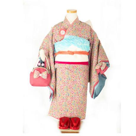 三歳 さくらんぼセット リバティ風小花 (新品)