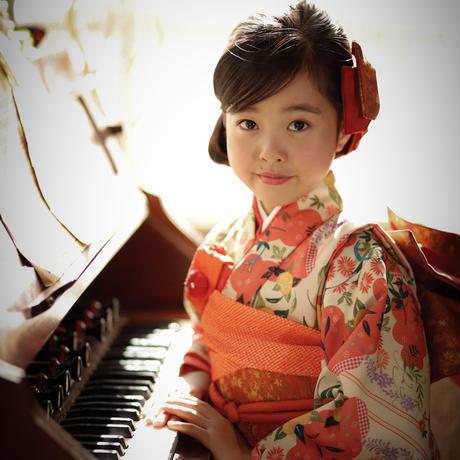 オーダー制作 七歳  橘の姫ちゃん 帯セット