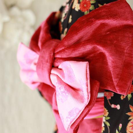 七歳 中古 黒毬桜 帯セット