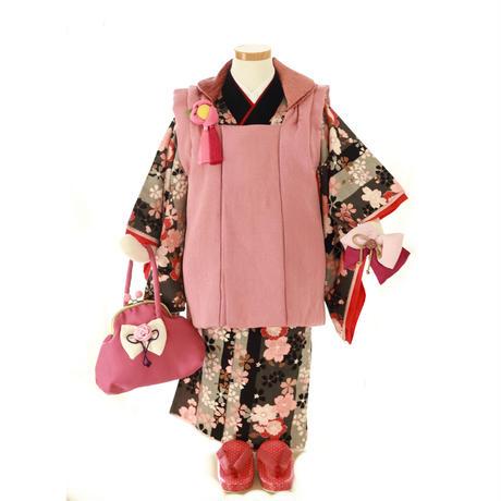三歳 イチゴちゃんセット 黒桜 (中古)