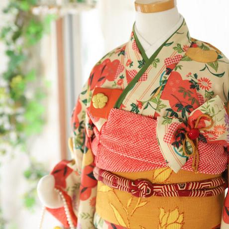 三歳 橘の姫ちゃん 新品 被布 帯セット