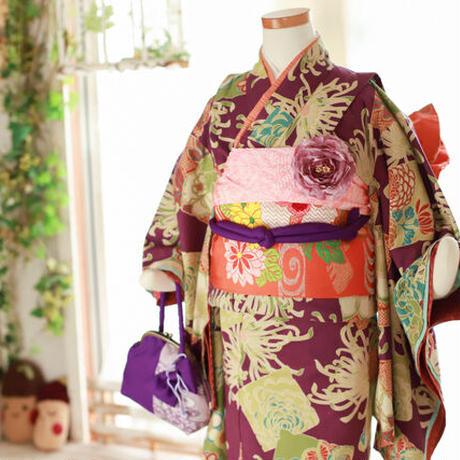 七歳 イチゴちゃんセット 紫菊モダン(中古)