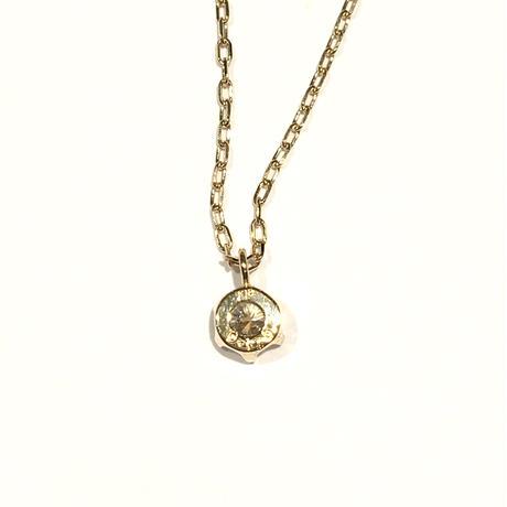 K18イエローゴールド/ダイヤモンド0.176ネックレス