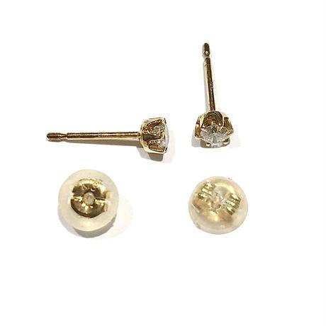K18イエローゴールド/ダイヤモンド0.2ctピアス