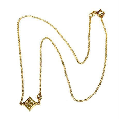 K18イエローゴールド/ダイヤモンド0.05ネックレス