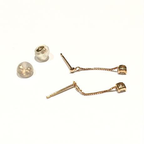 K18ピンクゴールド/ダイヤモンド0.1ctピアス
