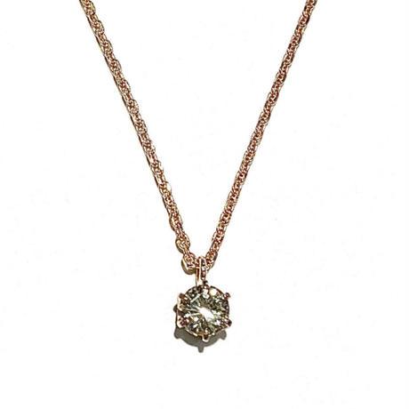 K18ピンクゴールド/ダイヤモンド0.252ctネックレス