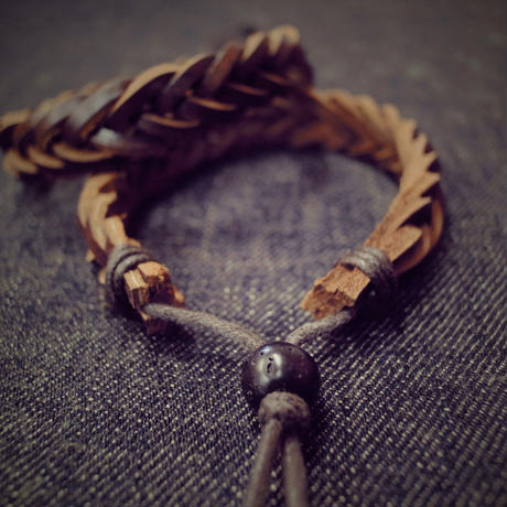Fujiyama Wash ORIGINAL LEATHER BRACELET|Brown