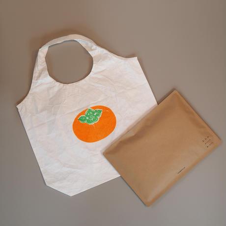 タイベックの柿のマルシェバッグ