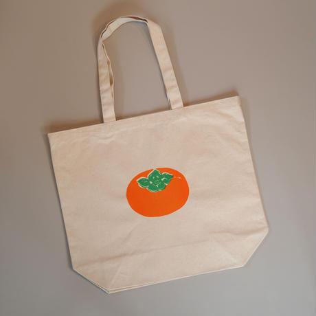 おっきな柿のトートバッグ