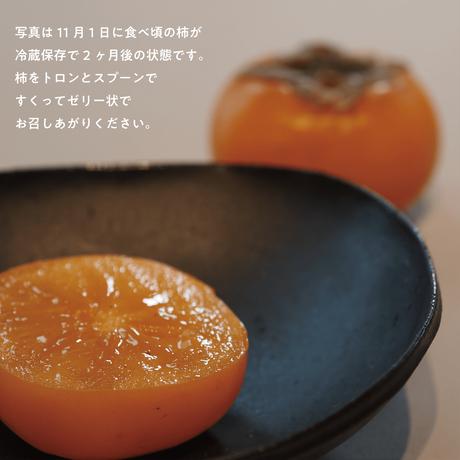 ちょっとよそいきな柿。