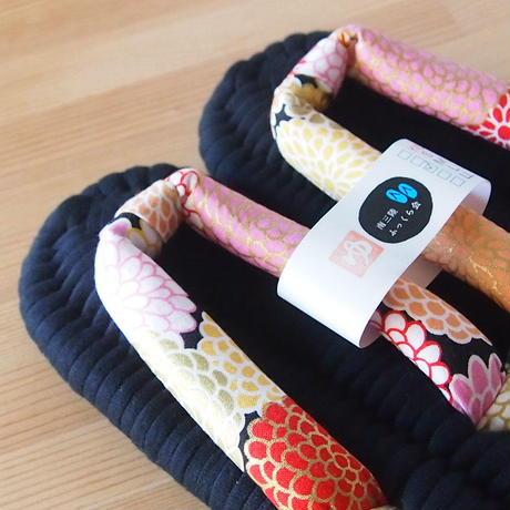 ふっくら布ぞうり/紫陽花:黒 25〜28cm