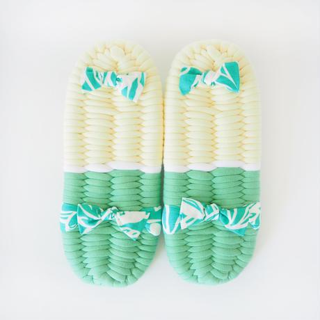 【定番】パステルハワイアンのふっくら布ぞうり:S