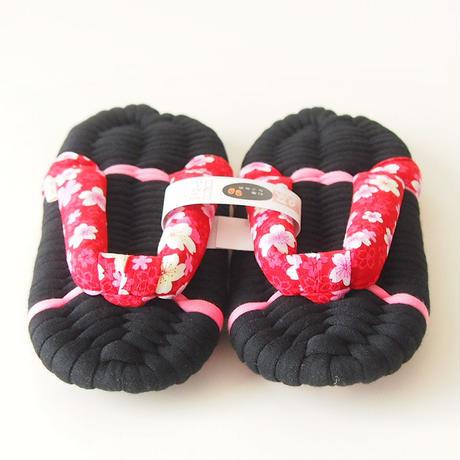 桜鼻緒のふっくら布ぞうり:M
