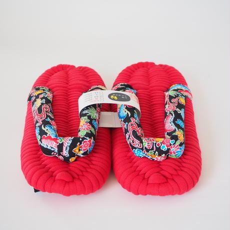 紅型鼻緒のふっくら布ぞうり:M