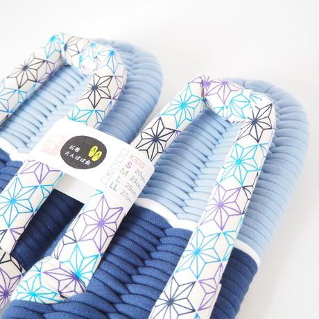 M&L ペア布ぞうり/薄紫&薄青 アサノハ