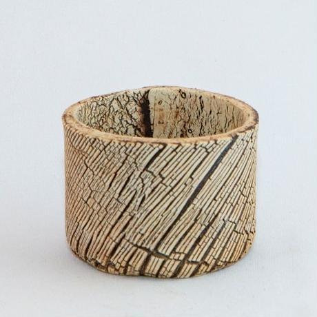 Scratch Stripe Pot S / Used Pot.8【中古鉢】