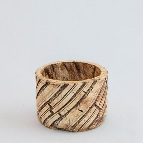 Scratch Bold Stripe Pot S / Used Pot.9【中古鉢】