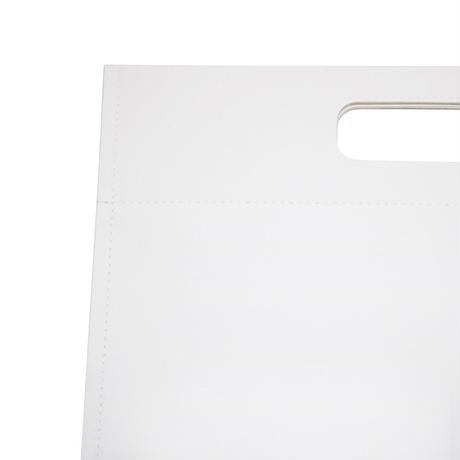 M096  フラットハンドバッグ S / ホワイト