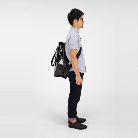 Ball's Material Sports Bag/サッカーボールレザー ブラックxホワイト