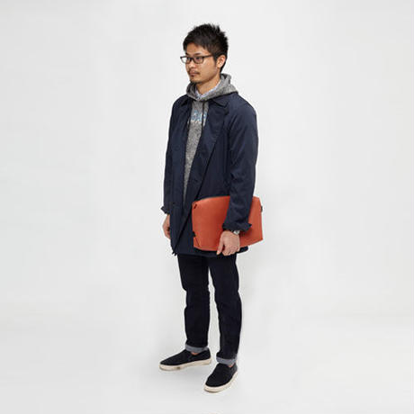 Ball's Material Clutch Bag/バスケットボール レザーブラウン