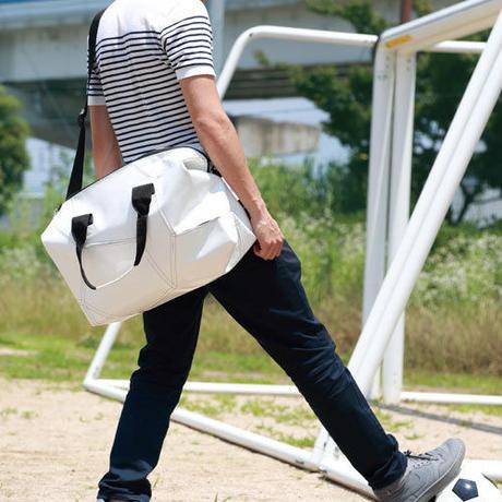 Ball's Material Sports Bag/サッカーボールレザー ホワイト×ブラック