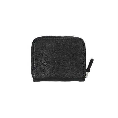 L008 ミニマム財布 / 栃木レザーWコガシ黒