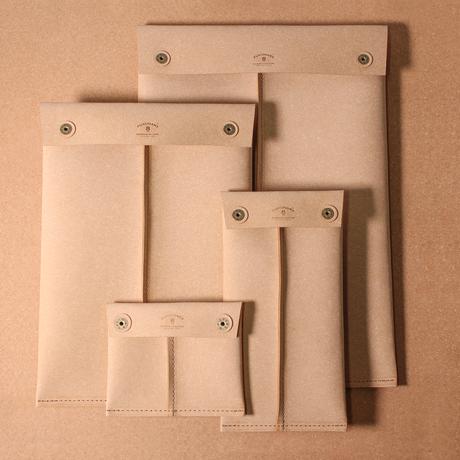 RL001 マルチケース L / リサイクルレザー ベージュ