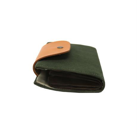 W01 はちのす カードケース / 尾道帆布 カーキ