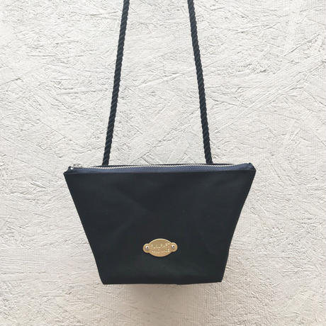 FUKURAFT / Japanese Canvas Shoulder Bag / BLK (FR-0007)