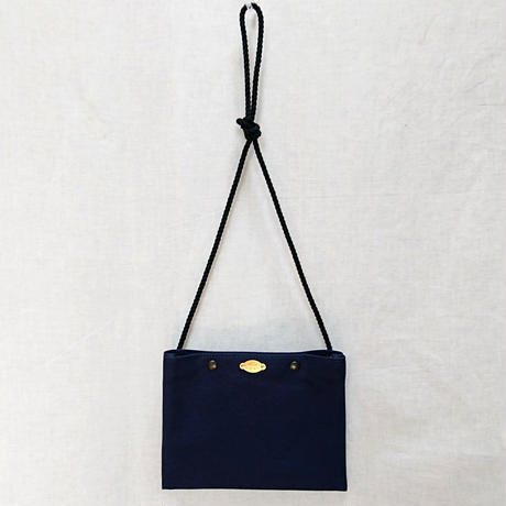 FUKURAFT / Japanese Canvas Sacoche  / NAVY (FR-0033)