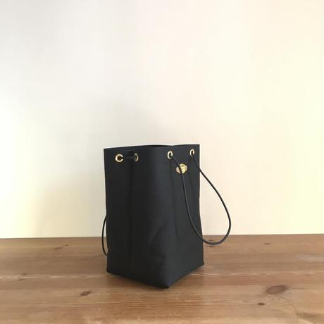 岡山倉敷キャンバス/巾着ポシェット SHUTTLE Ver.4 / ブラック