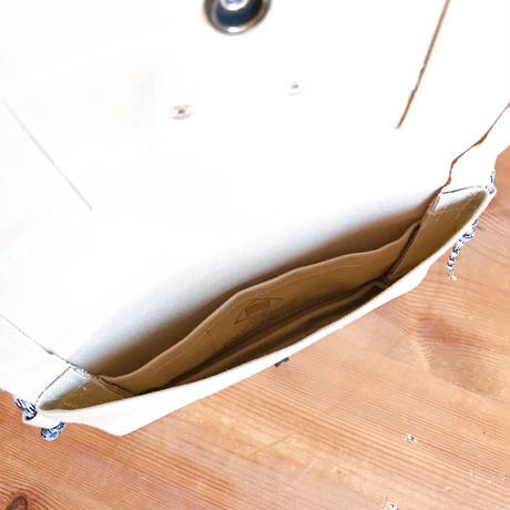 Japanese Canvas / Sacoche / FLAP POCKET 2 / Beige
