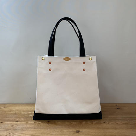 Japanese Canvas ROMEO TOTE 2 - L (FR-0120) / Black x White