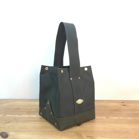 Japanese Canvas / Tote Bag / BUCKET (FR-0100) / Dark Green