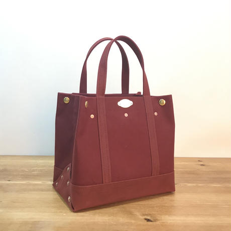 Japanese Canvas / Tote Bag / CAR-GO 25 / Dark Red