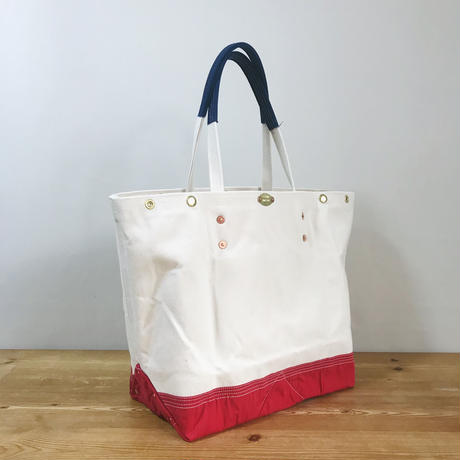一点物 SEA BREEZE REMAKE TOTE-L (FR0148)  / 生成り X RED