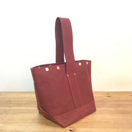 Japanese Canvas / Tote Bag / BUCKET (FR-0100) / Dark Red