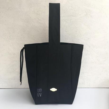 FUKURAFT / 国産キャンバストートバッグ  (L) BLK