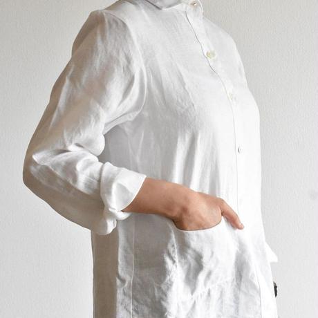 くったりリネンのレディースシャツ