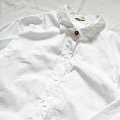 真っ白なブロードのシャツ【受注生産】